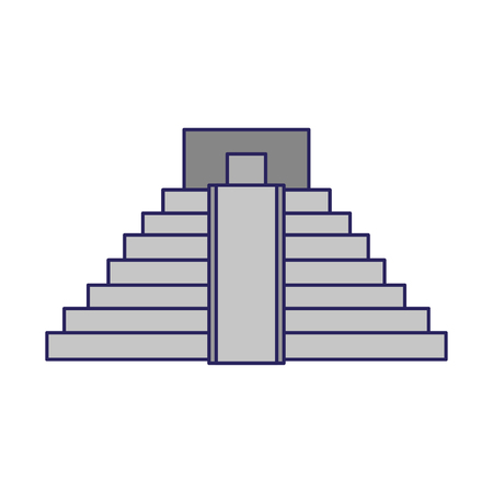 Mexican pyramid building symbol vector illustration graphic design Çizim