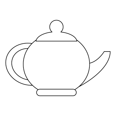 Tea porcelian pot isolated vector illustration graphic design Illustration