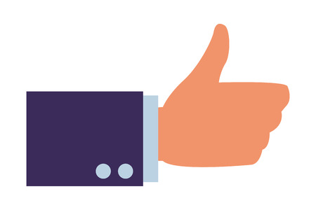 thumb up hand icon vector illustration graphic design