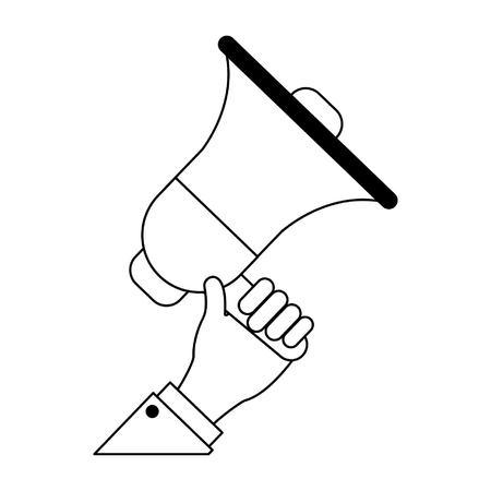Businessman hand with bullhorn cartoon vector illustration graphic design Banco de Imagens - 123031159