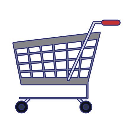 Shopping cart symbol isolated vector illustration graphic design