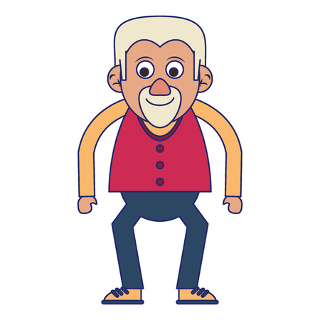 Elderly man grandfather isolated isolated vector illustration graphic design