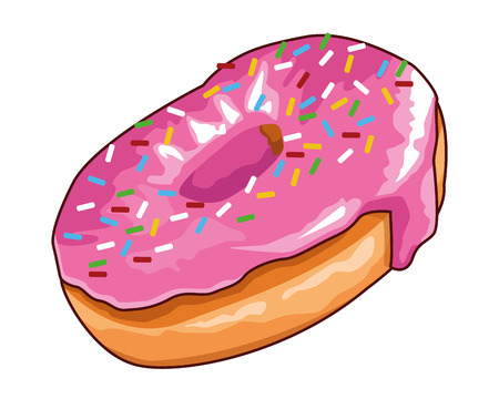 donut icon isolated vector illustration graphic design