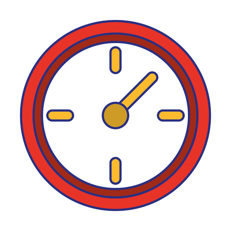 Wall clock timer symbol isolated vector illustration graphic design Vettoriali