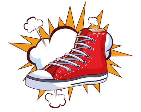 sneaker and cloud icons vector illustration graphic design