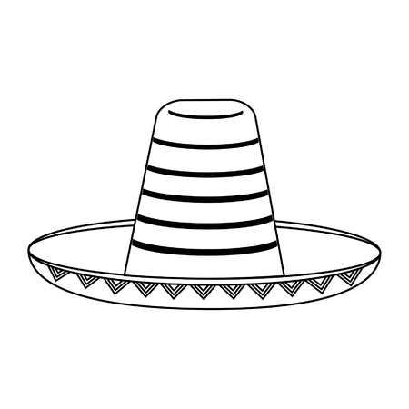 Mexican hat sombrero isolated vector illustration graphic design