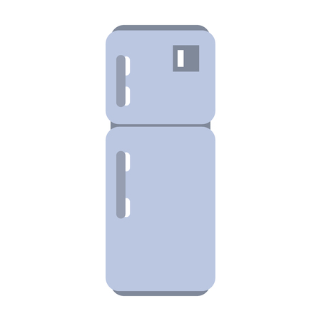 Kühlschrank Küchengerät isoliert Vektor-Illustration-Grafik-Design