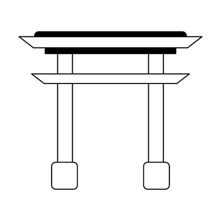 Asian arch building symbol vector illustration graphic design