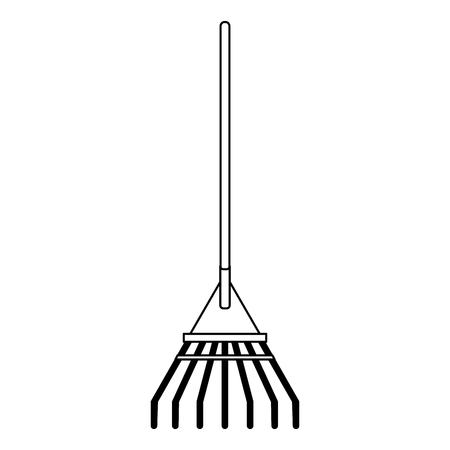 Rake garden tool isolated Designe 向量圖像