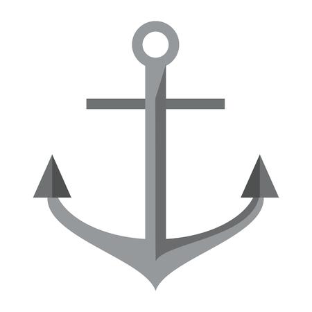 Anchor marine symbol cartoon vector illustration graphic design