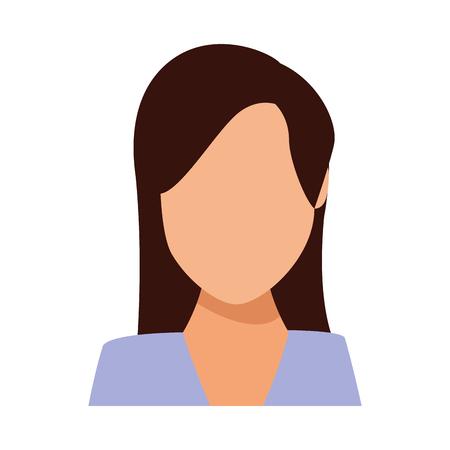 Businesswoman avatar faceless profile vector illustration graphic design