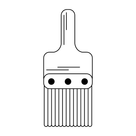 Paint brush tool isolated vector illustration graphic design