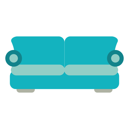 Sofa armchair furniture isolated vector illustration graphic design