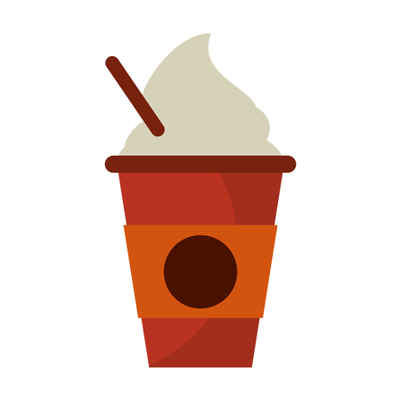 Coffee latter to go cup symbol vector illustration graphic design Stock Illustratie