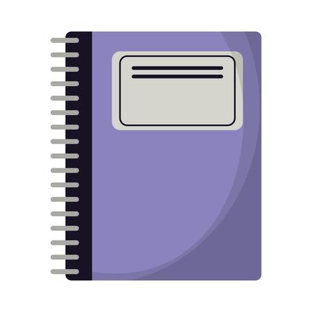 School notebook utensil isolated cartoon