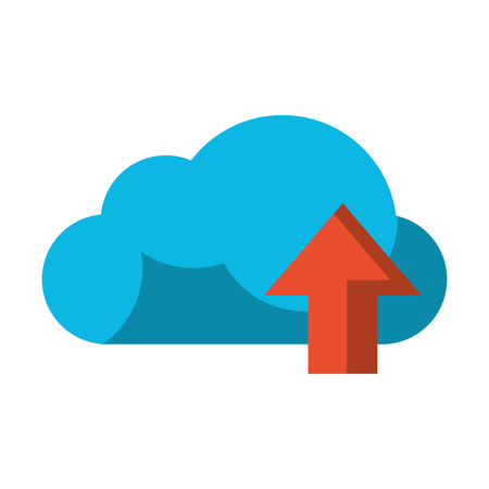 Cloud computing upload symbol vector illustration graphic design