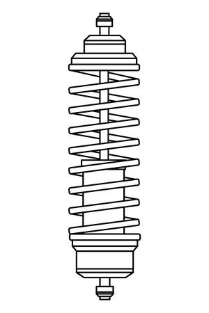 car service part shock absorber cartoon vector illustration graphic design