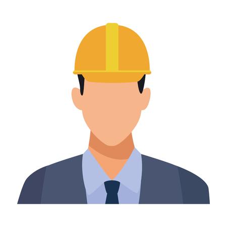 Construction engineer avatar profile vector illustration graphic design Çizim