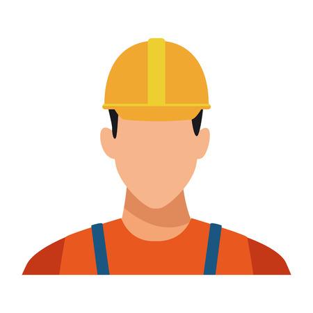 Construction worker avatar profile vector illustration graphic design Çizim