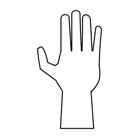 black hand open symbol vector illustration graphic design