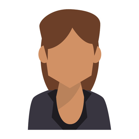 Businesswoman profile faceless avatar vector illustration graphic design Çizim