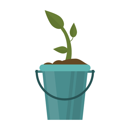 Plant in bucket symbol Stock Illustratie