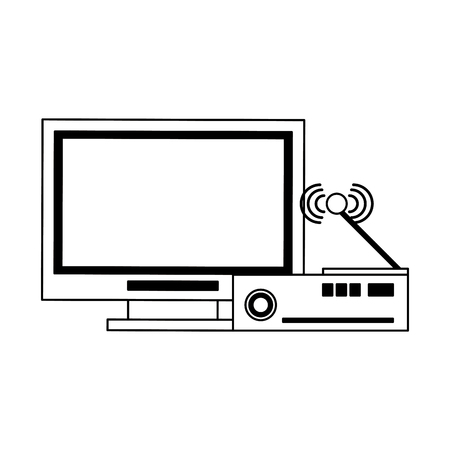 Television and codifier technology devices vector illustration graphic design
