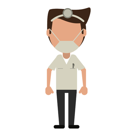 Doctor with clipboard avatar vector illustration graphic design