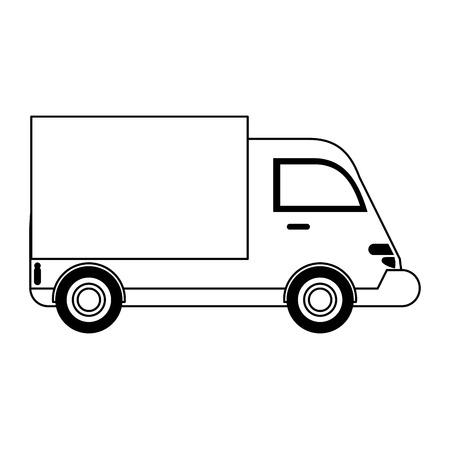 Cargo truck vehicle symbol vector illustration graphic design