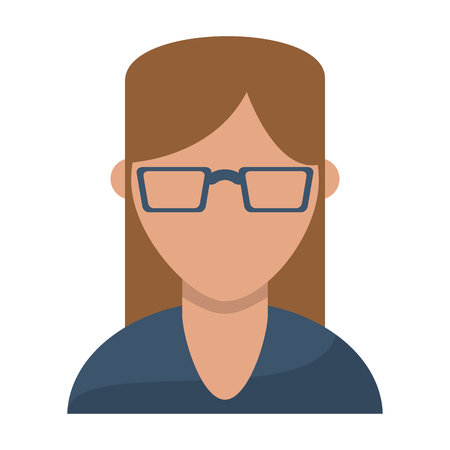 Woman with glasses avatar profile vector illustration graphic design