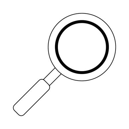 Magnifying glass symbol isolated Designe