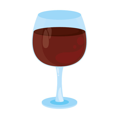 Wine glass cup cartoon vector illustration graphic design