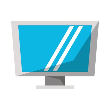 Computer screen hardware techonlogy vector illustration graphic design