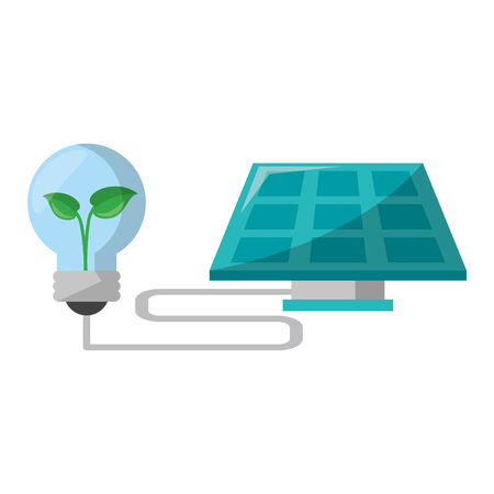 Green and renewable energy symbols vector illustration graphic design Ilustrace
