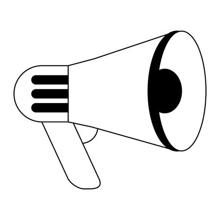 Bullhorn advertising symbol isolated vector illustration graphic design Banco de Imagens - 122977160