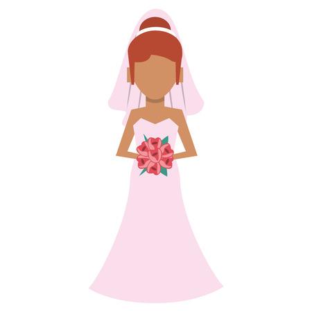 Wedding bride avatar cartoon vector illustration graphic design Standard-Bild - 122977165