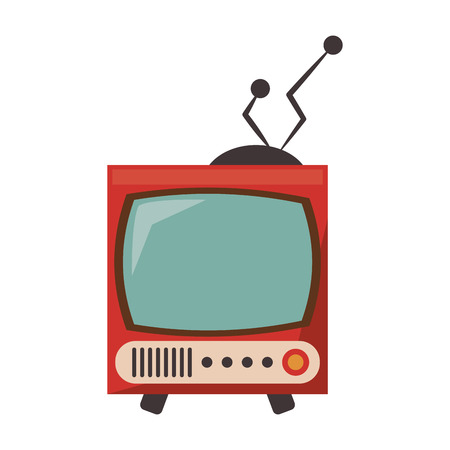 Old vintage television symbol vector illustration graphic design