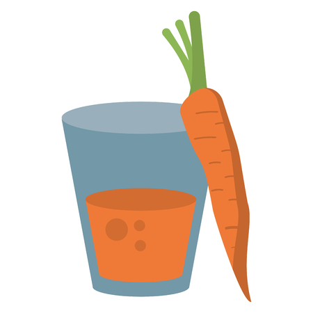 carrot juice cup cartoon isolated vector illustration graphic design