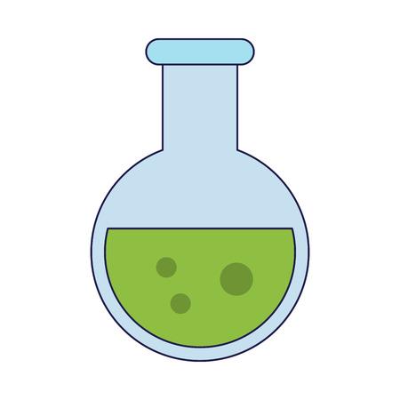 Chemistry flask symbol isolated Designe Vettoriali