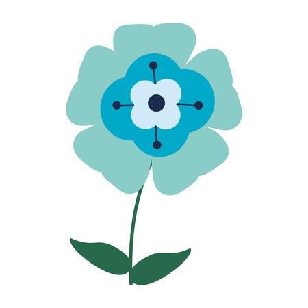Beautiful flower cartoon isolated Standard-Bild - 122977337