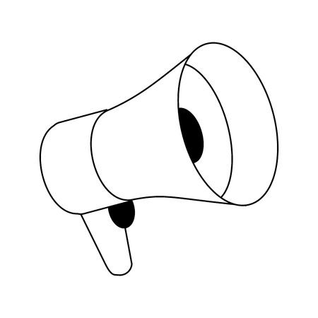 vintage bullhorn symbol cartoon vector illustration graphic design Ilustração