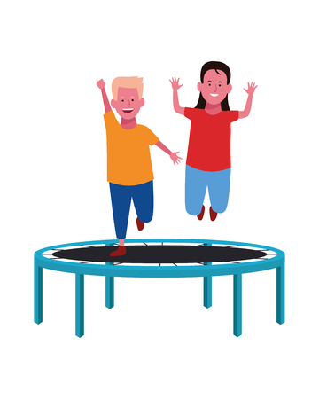 Kids playing with funny games vector illustration graphic design
