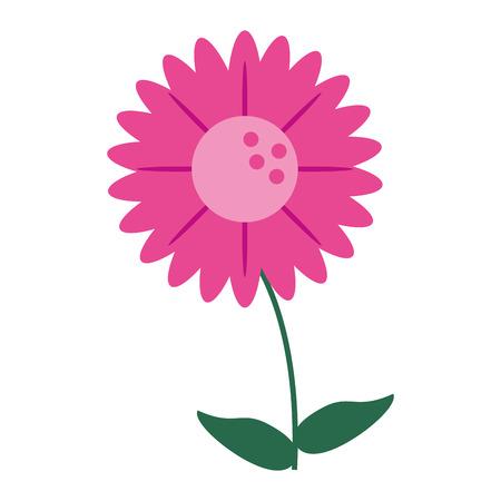 Beautiful flower cartoon isolated Standard-Bild - 122931263