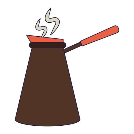 Coffee filter bag in jar vector illustration graphic design