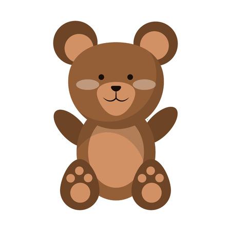 Niedliche Tierkarikatur-Vektorillustrationsgrafikdesign des Bären