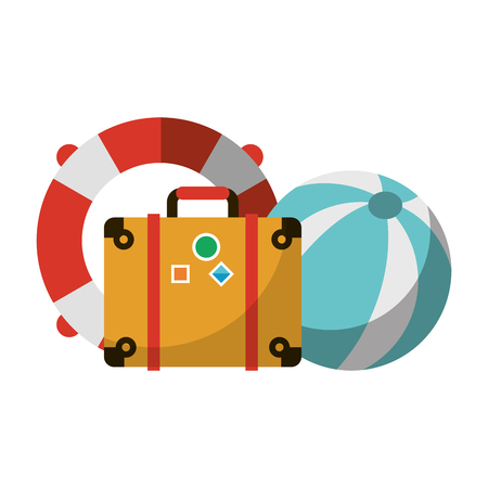 Vacations cartoons and travel equipment vector illustration graphic design