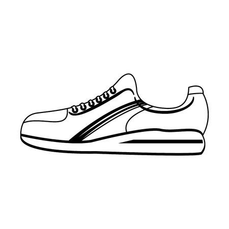 Sport shoe sneaker footwear vector illustration graphic design