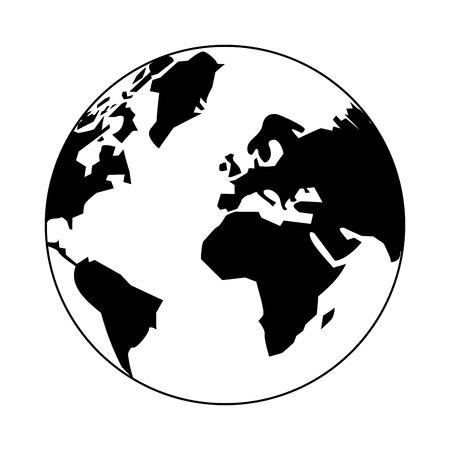 World earth world symbol vector illustration graphic design