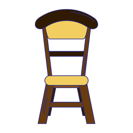 wooden chair dinning room isolated vector illustration graphic design