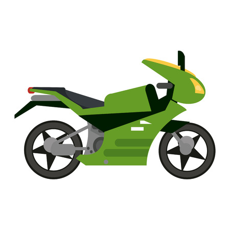 Sport motorcycle vehicle sideview vector illustration graphic design